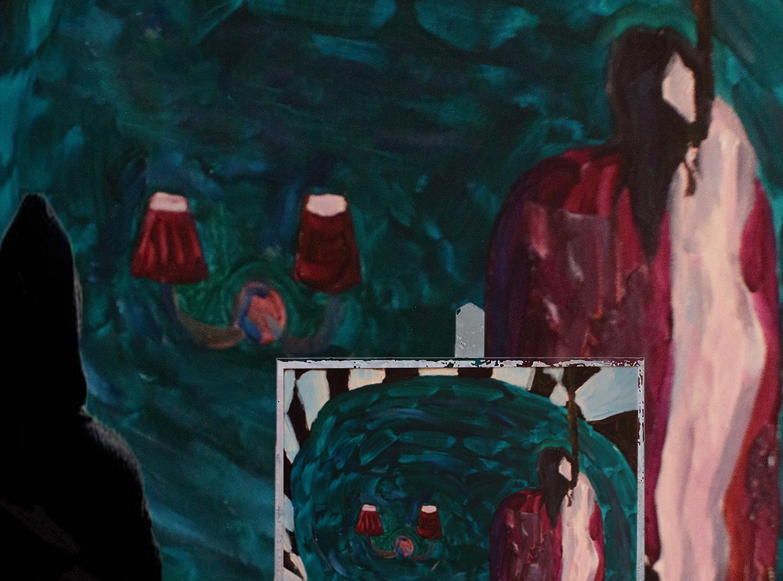 Portrait of hanged girl